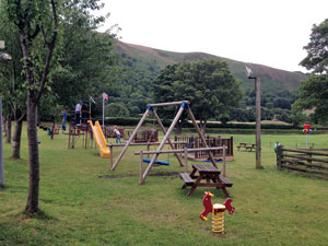 Play area at Abbey Grange Campsite